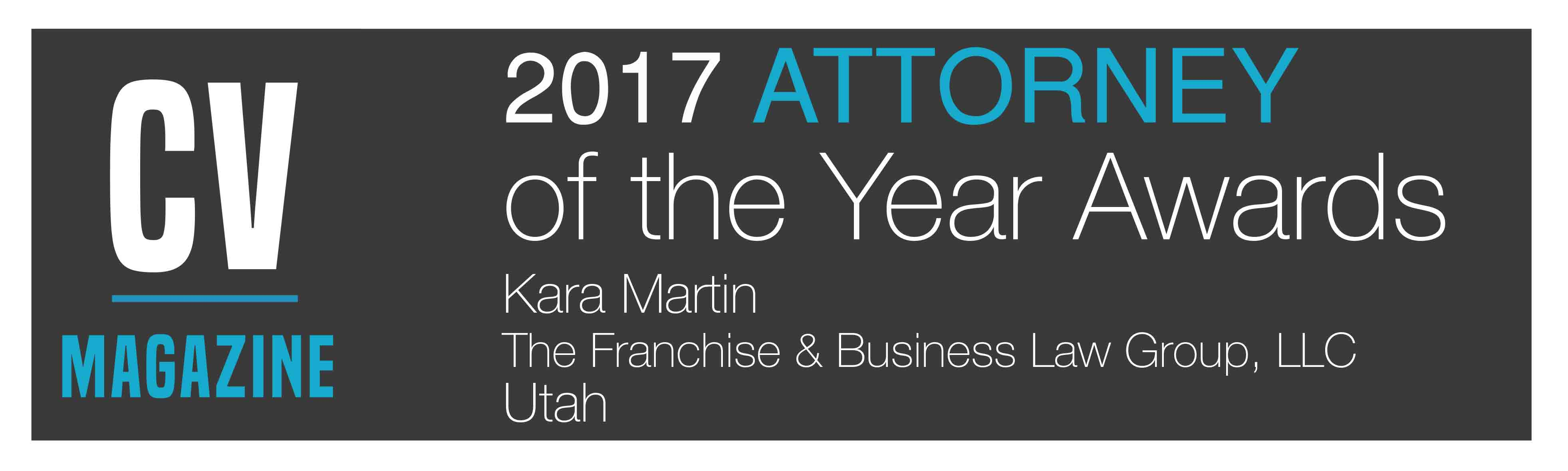 CV Magazine Attorney of the year award Franchise law